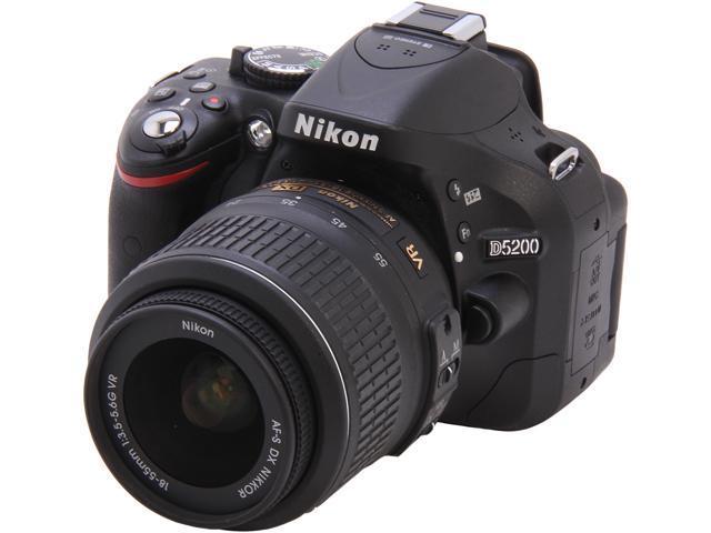 Nikon D5200 (1503) Black Digital SLR Camera with 18-55mm VR Lens Kit