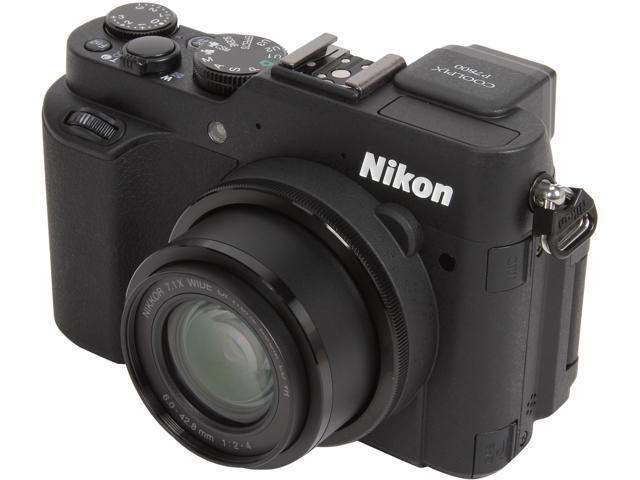 Nikon COOLPIX P7800 Black 12.2 million 7.1X Optical Zoom 28mm Wide Angle Digital Camera HDTV Output