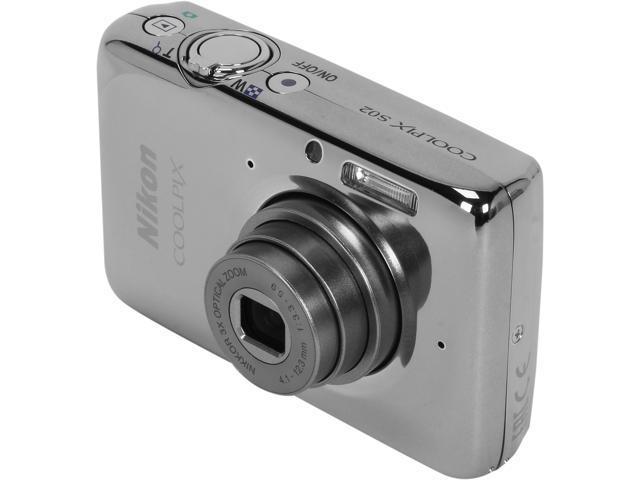 Nikon COOLPIX S02 Silver 13.2 million Digital Camera HDTV Output