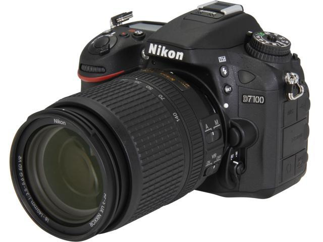Nikon D7100 13302 Black 24.1 MP Digital SLR w/ 18-140mm VR Lens