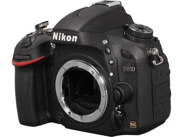 Nikon D610 1540 Black 24.3 MP Digital SLR Camera - Body