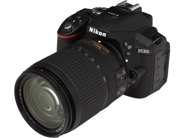 Nikon D5300 13303 Black 24.2 MP Digital SLR Camera with 18-140mm Lens