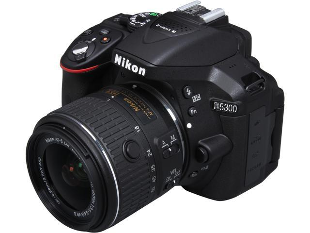 Nikon D5300 1522 Black 24.2 MP Digital SLR Camera with 18-55mm Lens
