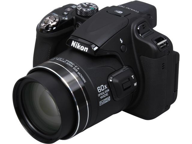 Nikon COOLPIX P600 Black 16.1 MP 60X Optical Zoom 24mm Wide Angle Digital Camera HDTV Output