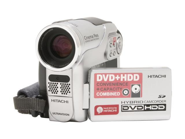 "HITACHI DZ-HS300A 1/6"" CCD 2.7"" LCD 25X Optical Zoom Hybrid DVD+HDD Camcorder"