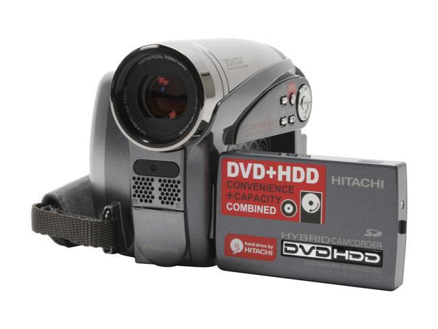 "HITACHI DZ-HS500A 1/6"" CCD 2.7"" LCD 30X Optical Zoom HDD/DVD/SD Hybrid Digital Camcorder"