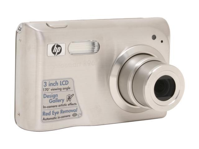 HP R967 Silver 10.0 MP 3X Optical Zoom Digital Camera