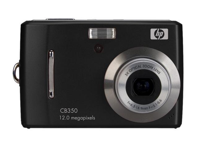 HP CB350 Black 12.0 MP 3X Optical Zoom Digital Camera
