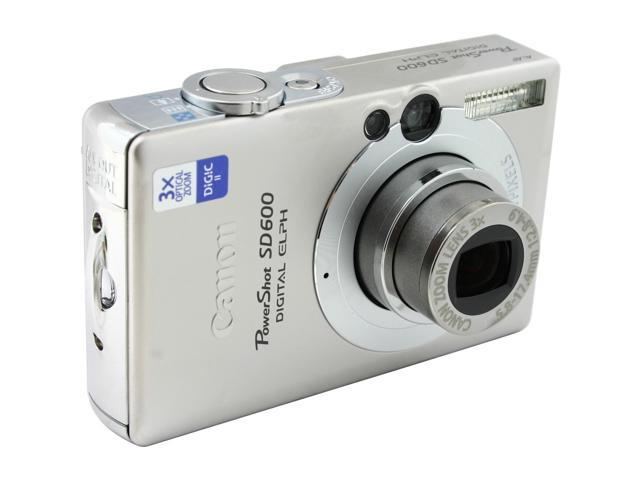 Canon PowerShot SD600 Silver 6.0 MP 3X Optical Zoom Digital Camera