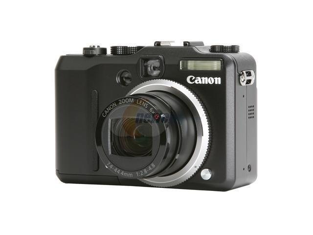 Canon PowerShot G7 Black 10.0 MP 6X Optical Zoom Digital Camera