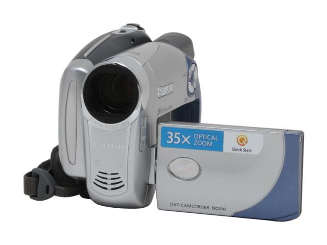 Canon DC210 Silver 35X Optical Zoom DVD Digital Camcorder