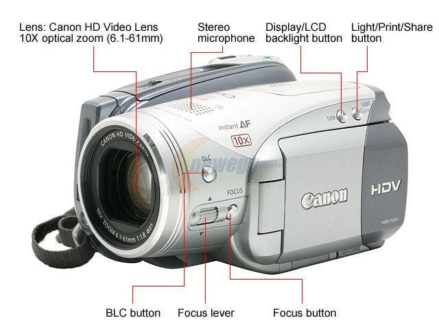 "Canon VIXIA HV20 2.7"" 211K Widescreen LCD 10X Optical Zoom 3.0MP High Definition Camcorder"