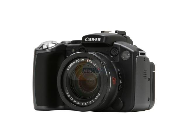 "Canon PowerShot S5 IS Black 8.0 MP 2.5"" 207K LCD 12X Optical Zoom Digital Camera"