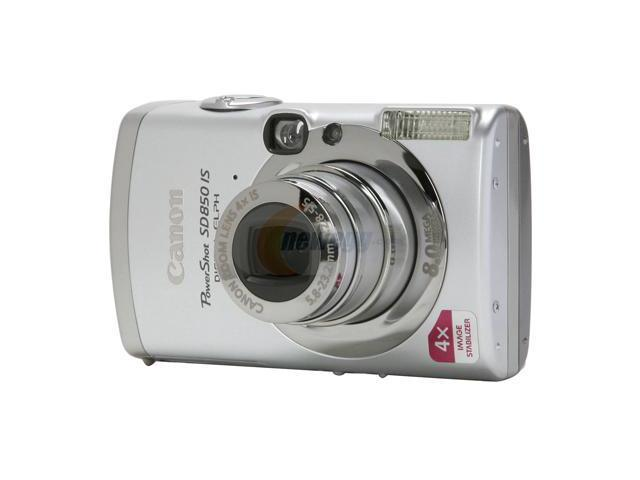 Canon PowerShot SD850 IS Silver 8.0 MP 4X Optical Zoom Digital Camera