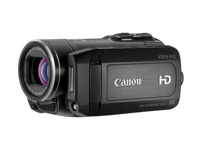 Canon VIXIA HF20 Black High Definition Dual Flash Memory Camcorder