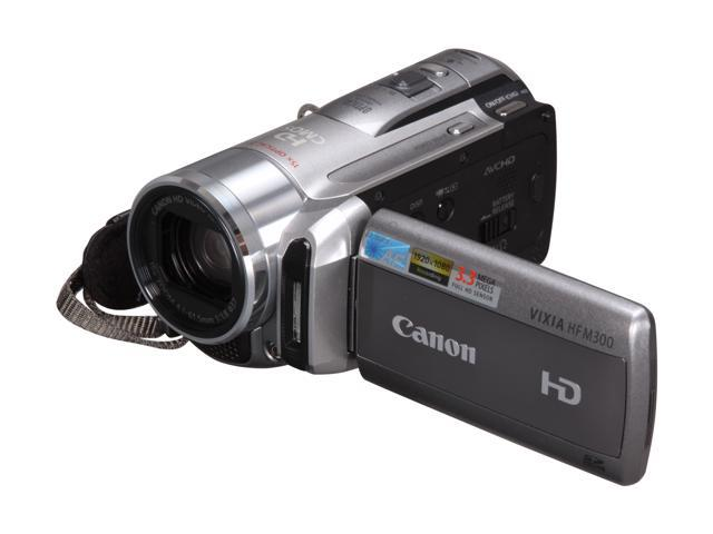 "Canon VIXIA HF M300 HD 1/4"" CMOS 2.7"" 211K Touch LCD 15X Optical Zoom Flash Memory Camcorder"