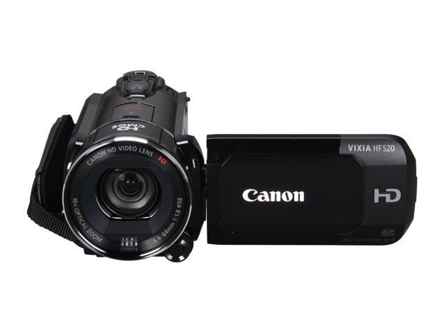"Canon VIXIA HF S20 1/2.6"" CMOS 3.5"" 922K Touch LCD 10X Optical Zoom 32GB HD Dual Flash Memory Camcorder"
