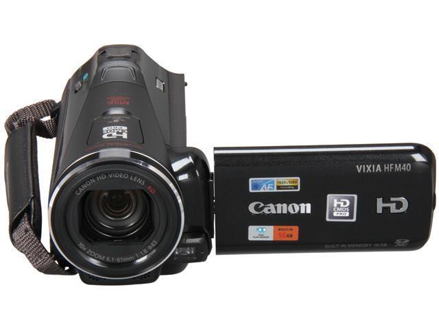 "Canon VIXIA HF M40 Black 1/3"" CMOS 3.0"" 230k Touch LCD 10X Optical ..."