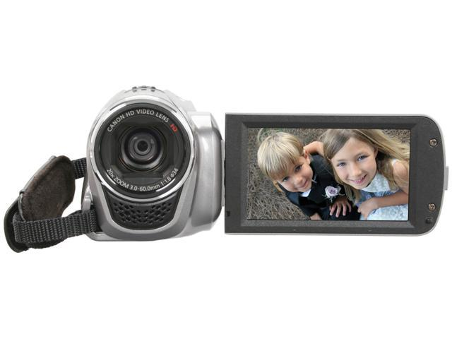 "Canon VIXIA HF R200 Silver 1/4.85"" CMOS 3.0"" 230k Touch LCD 20X Optical Zoom High Definition HDD/Flash Memory Camcorder"