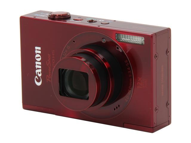 Canon ELPH 520 HS Red 10.1 MP 28mm Wide Angle Digital Camera HDTV Output