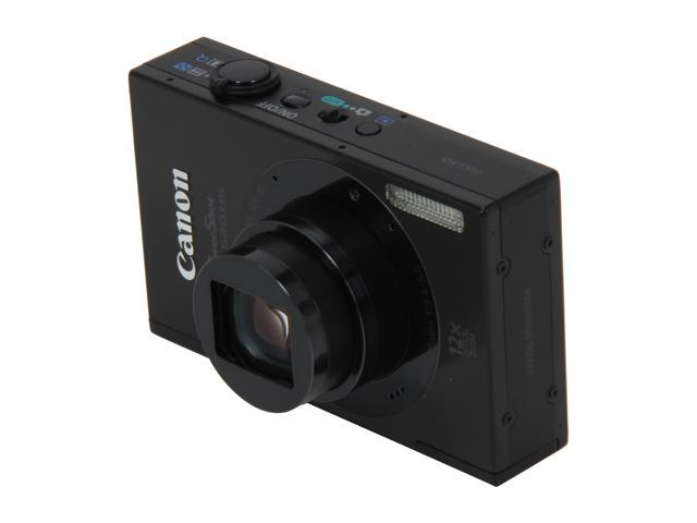 Canon ELPH 520 HS Black 10.1 MP 12X Optical Zoom 28mm Wide Angle Digital Camera HDTV Output