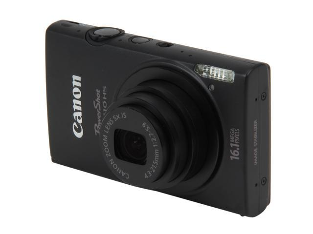 Canon ELPH 110 HS Black 16.1 MP 5X Optical Zoom 24mm Wide Angle Digital Camera HDTV Output