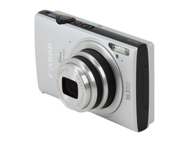 Canon PowerShot ELPH 320 HS Silver 16.1 MP 5X Optical Zoom 24mm Wide Angle Digital Camera HDTV Output