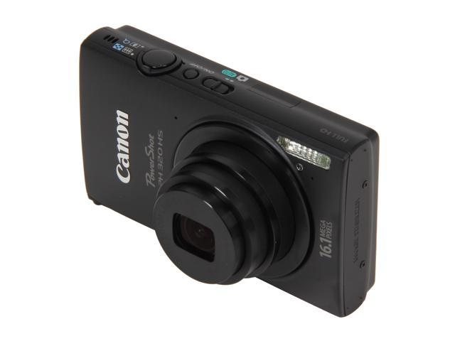 Canon PowerShot ELPH 320 HS Black 16.1 MP 24mm Wide Angle Digital Camera HDTV Output