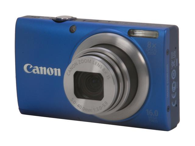 Canon PowerShot A4000 IS Blue 16.0 MP 8X Optical Zoom 28mm Wide Angle Digital Camera