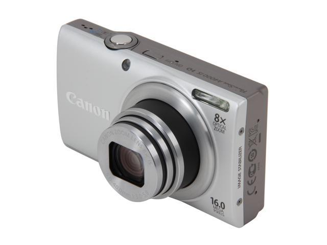 Canon PowerShot A4000 IS Silver 16.0 MP 8X Optical Zoom 28mm Wide Angle Digital Camera