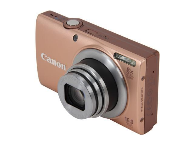 Canon PowerShot A4000 IS Pink 16.0 MP 8X Optical Zoom 28mm Wide Angle Digital Camera