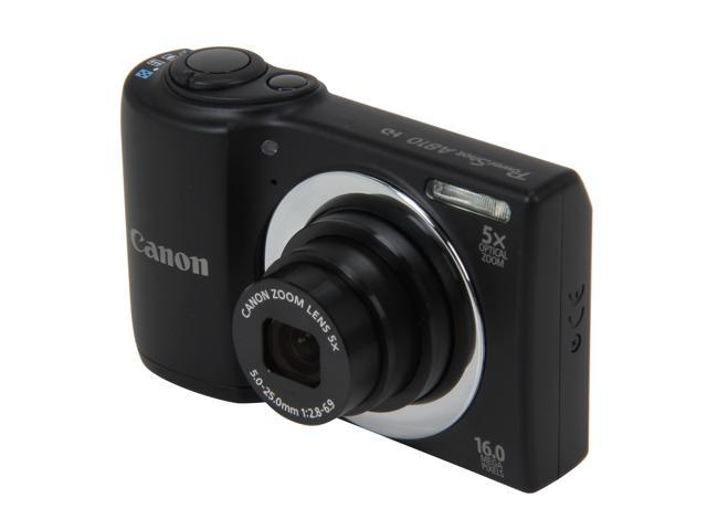 Canon PowerShot A810 Black 16 MP 28mm Wide Angle Digital Camera