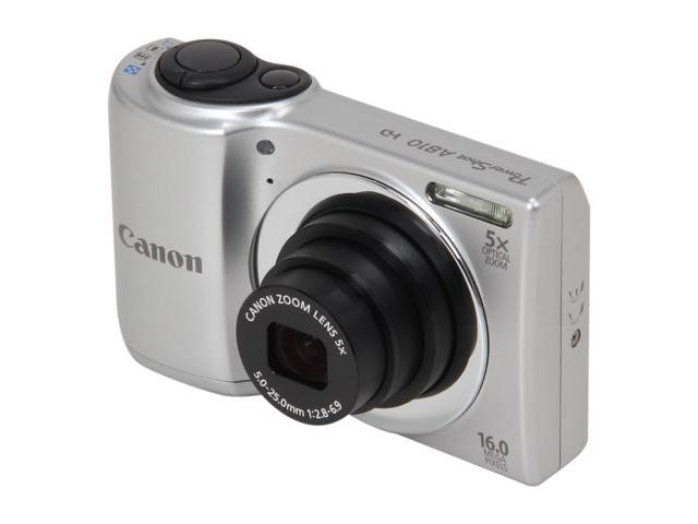 Canon PowerShot A810 Silver 16 MP 5X Optical Zoom 28mm Wide Angle Digital Camera