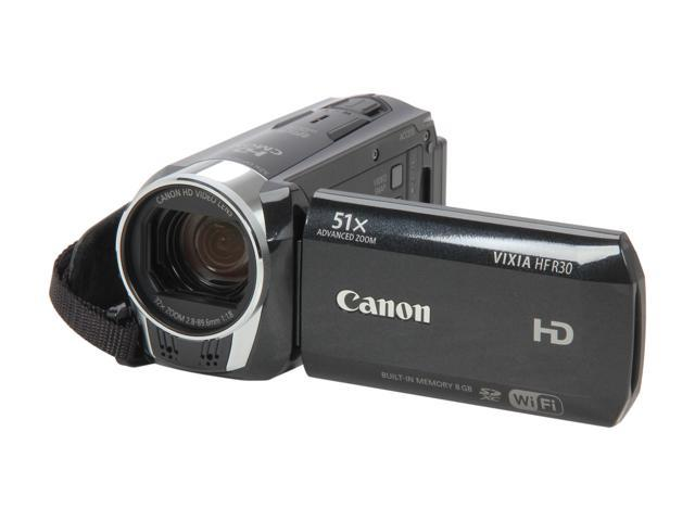 Canon VIXIA HF R30 (5976B002) Black High Definition Flash Memory Camcorder