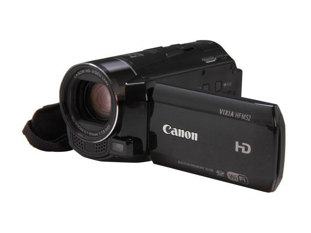 Canon VIXIA HF M52 (6093B004) Black Full HD Flash Memory Camcorder
