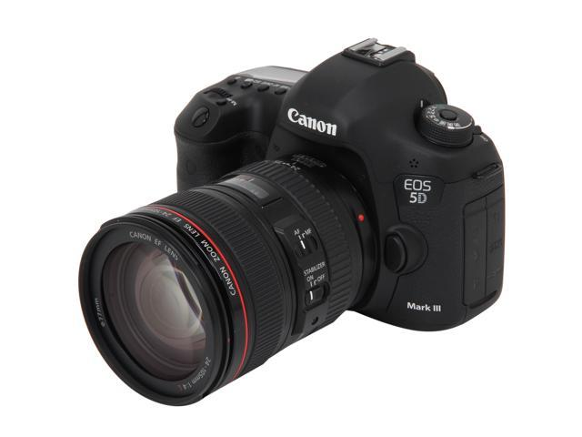 Canon EOS 5D Mark III 22.3MP Full Frame CMOS Digital SLR Camera with EF 24-105mm f/4 L IS USM Lens