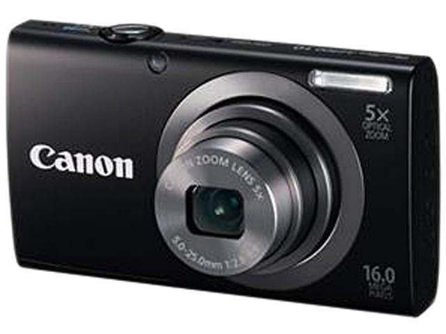 Canon PowerShot A2300 Black 16.0 MP 5X Optical Zoom 28mm Wide Angle Digital Camera