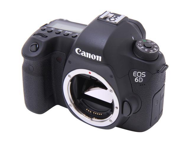 Canon EOS 6D (8035B002) Digital SLR Cameras Black Approx. 20.2 MP Digital SLR Camera - Body Only