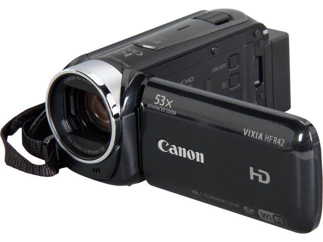 Canon VIXIA HF R42 8152B005 Black Full HD HDD/Flash Memory Camcorder