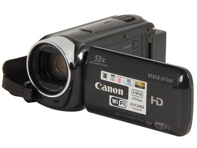 Canon VIXIA HF R40 (8153B001) Black Full HD HDD/Flash Memory Camcorder