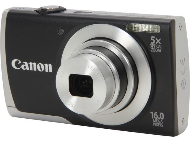 Canon PowerShot A2600 Black 16.0 MP 5X Optical Zoom 28mm Wide Angle Digital Camera