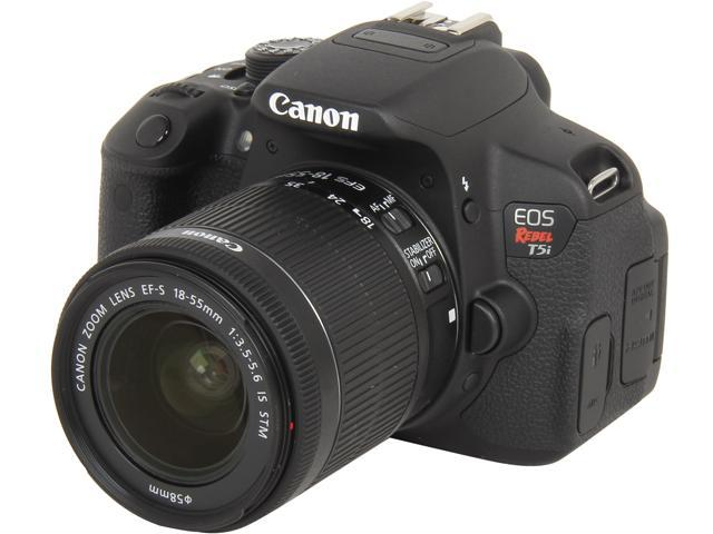Canon EOS Rebel T5i 8595B003 Black 18.0 MP Digital SLR Camera with 18-55mm IS STM Lens