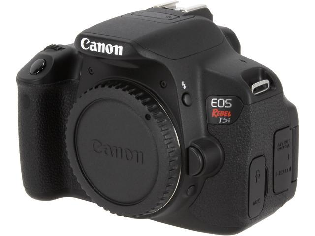 Canon EOS Rebel T5i 8595B001 Black 18.0 MP Digital SLR Camera - Body Only