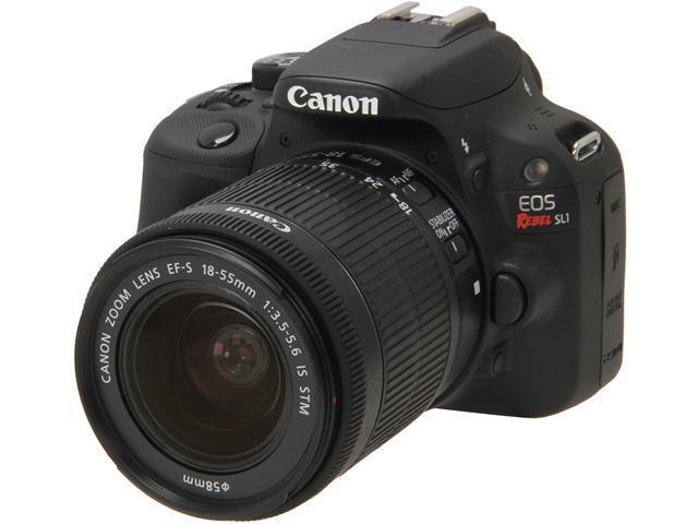 Canon Rebel SL1 8575B003 Black Digital SLR Camera with 18-55mm IS STM Lens