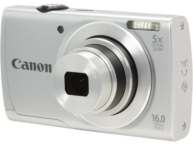 Canon PowerShot A2500 Silver 16 MP 28mm Wide Angle Digital Camera