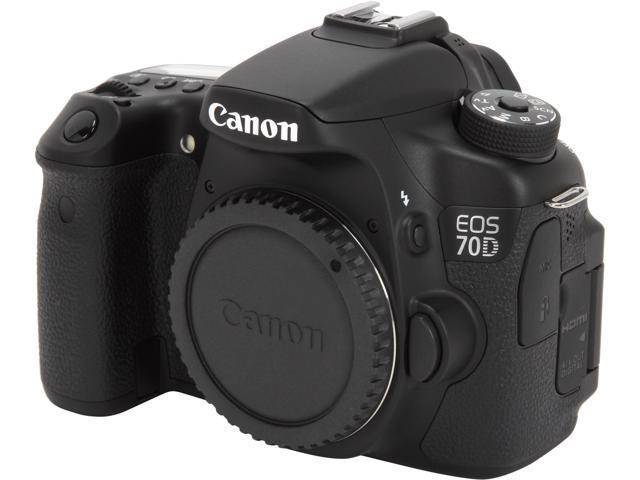 Canon EOS 70D (8469B002) Digital SLR Cameras Black 20.2 MP Digital SLR Camera - Body