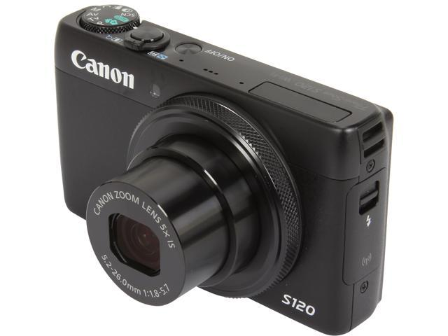 Canon PowerShot S120 Black Approx. 12.1 Megapixels 5X Optical Zoom Wide Angle Digital Camera