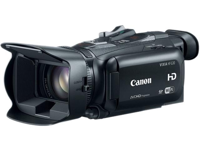 "Canon VIXIA HF G30 8454B001 Black 1/2.8"" CMOS 3.5"" 1.23 MP Touch LCD 20X Optical Zoom Full HD HDD/Flash Memory Camcorder"