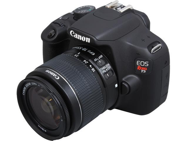 Canon Rebel T5 9126B003 Black 18.0MP Digital SLR Camera w/ EF-S 18-55mm IS II Lens