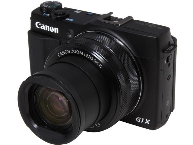 Canon PowerShot G1 X Mark II Black 12.8 MP 5X Optical Zoom 24mm Wide Angle Digital Camera